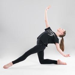 T-shirt danse moderne noir fluide fille