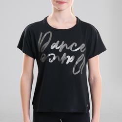 Soepel T-shirt moderne dans meisjes zwart