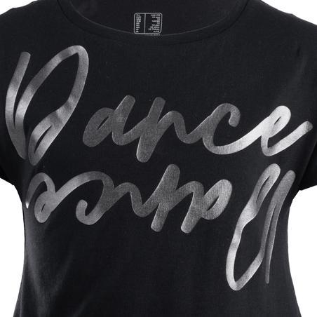 Girls' Draping Modern Dance T-Shirt - Black