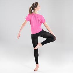 Short de danse moderne noir près du corps fille