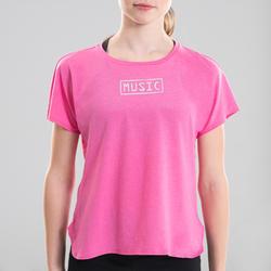 T-shirt danse moderne rose fluide fille