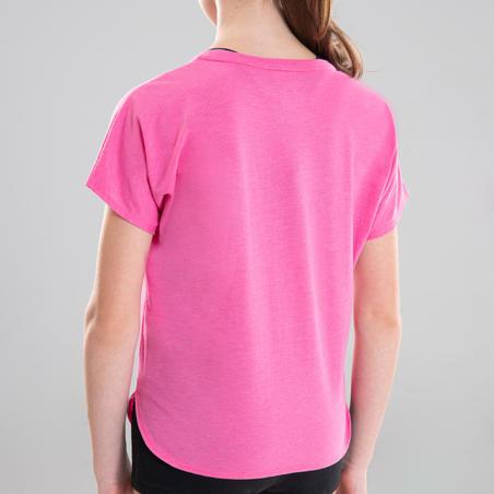 Girls' Draping Modern Dance T-Shirt - Pink