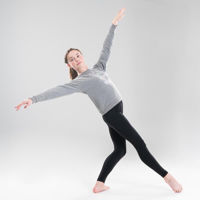Hoodie voor moderne dans meisjes grijs