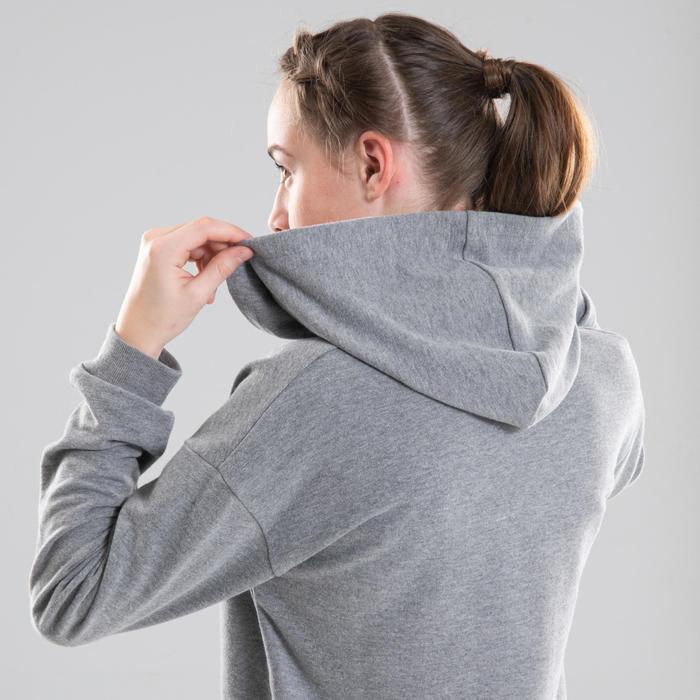 Sweat danse moderne gris à capuche fille