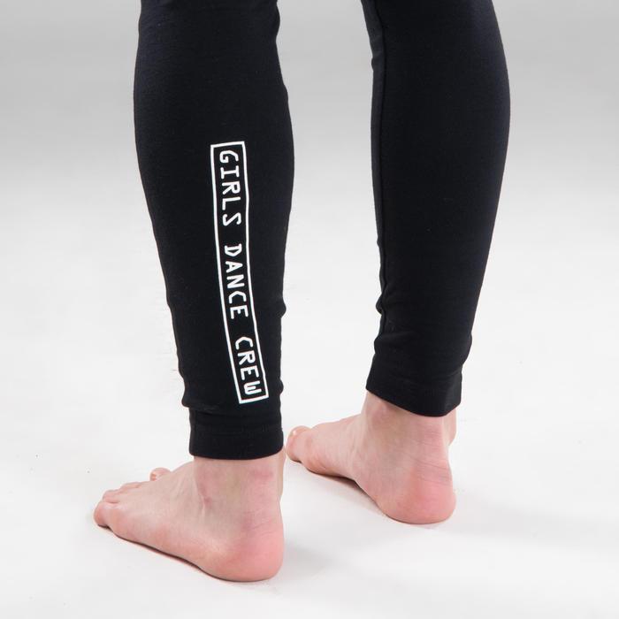 Legging voor moderne dans meisjes zwart