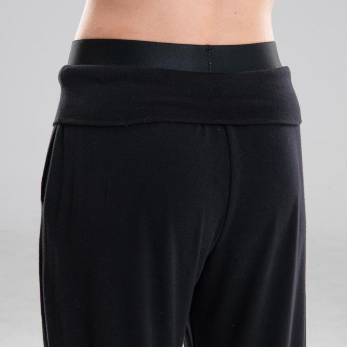 Pantalon danse moderne noir modulable fille