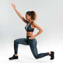 Sportbeha voor dans-workouts dames zwart met print