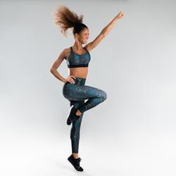 Brassière danse fitness noire à imprimé femme