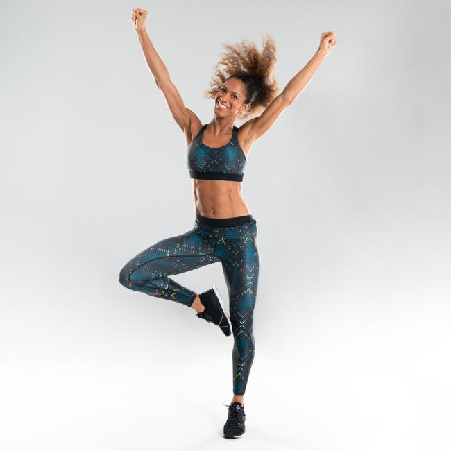 Women's Fitness Dance Leggings - Black Print