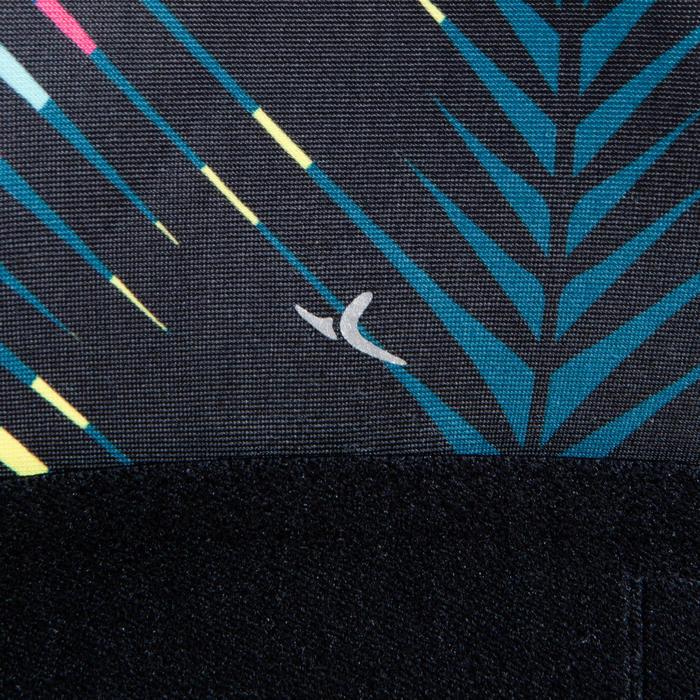Sporttopje dans-workouts zwart met print