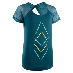 Women's Fitness Dance T-Shirt - Petrol Blue