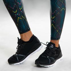 Legging voor dans-workouts dames zwart met print