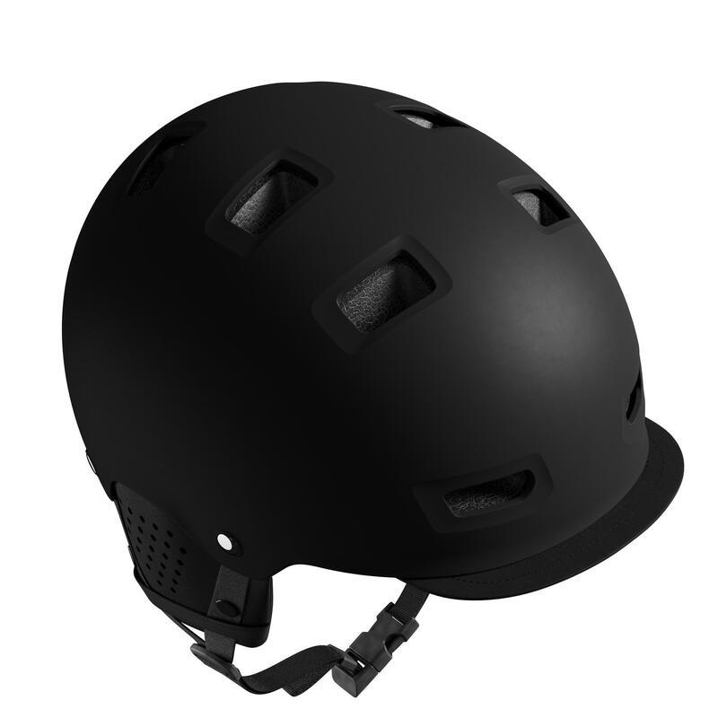 Bowl City Cycling Helmet 500 - Black