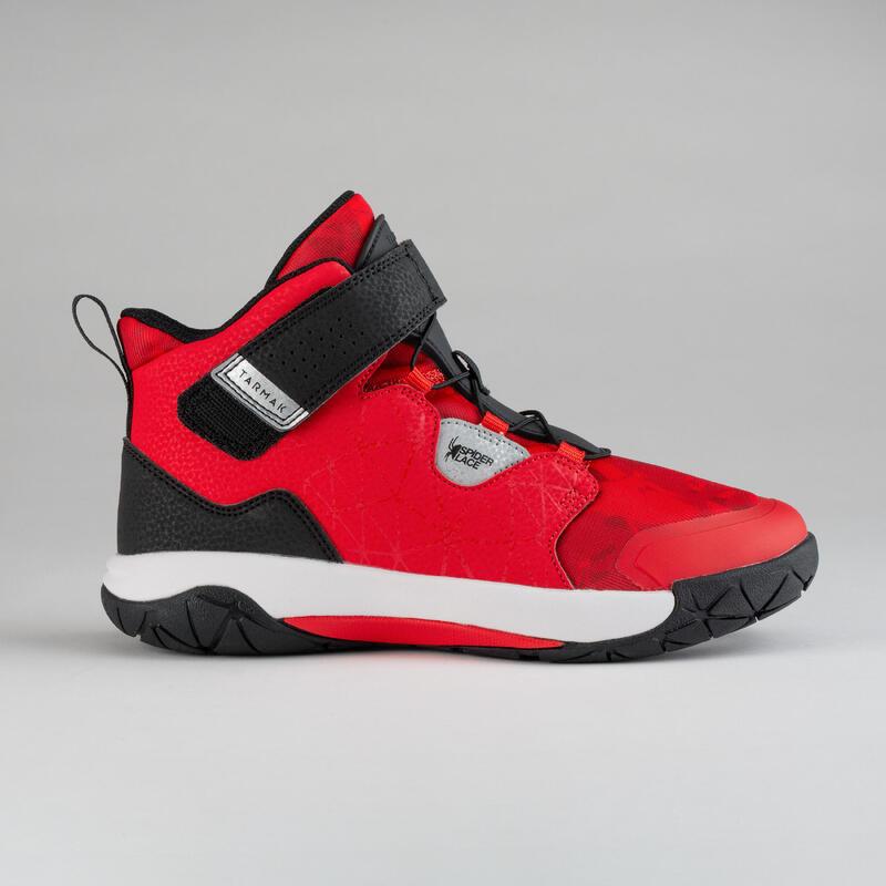 Scarpe basket junior SPIDER LACE 500 rosso-nero