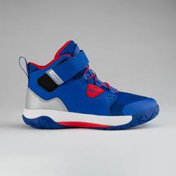 Scarpe basket junior SPIDER LACE 500 blu-rosso
