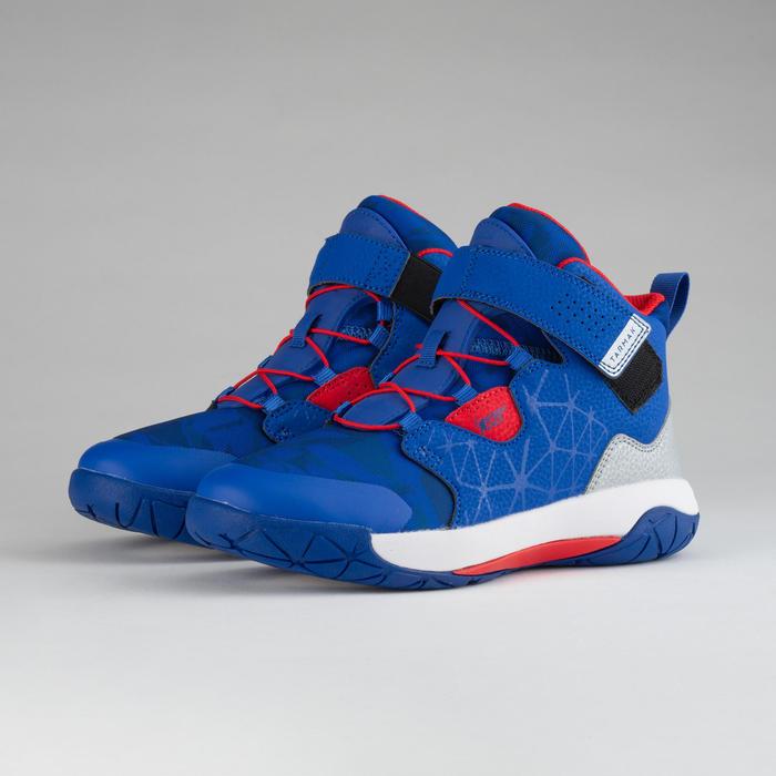兒童款中階籃球鞋Spider Lace-紅藍配色