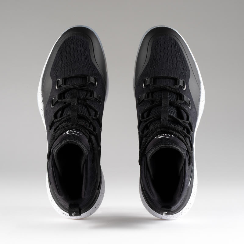 Men's High-Rise Basketball Shoes SC500 - Black