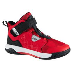 Basketbalschoenen voor gevorderde jongens/meisjes Spider Lace rood/zwart