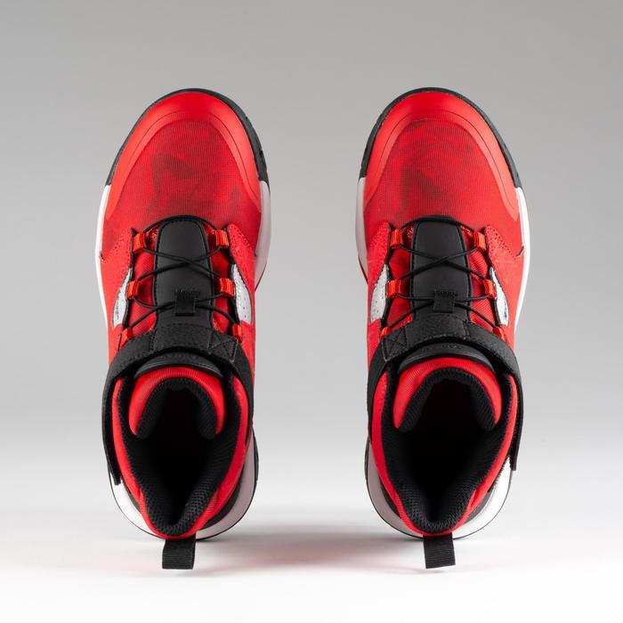 CHAUSSURES DE BASKETBALL POUR GARCON/FILLE CONFIRME(E) rouge noir SPIDER LACE