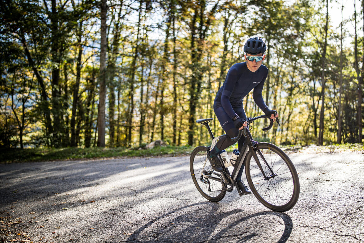ascension à vélo froid