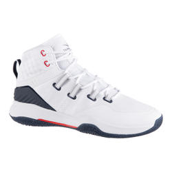 Basketbalschoenen voor heren SC500 wit/wit hoog model