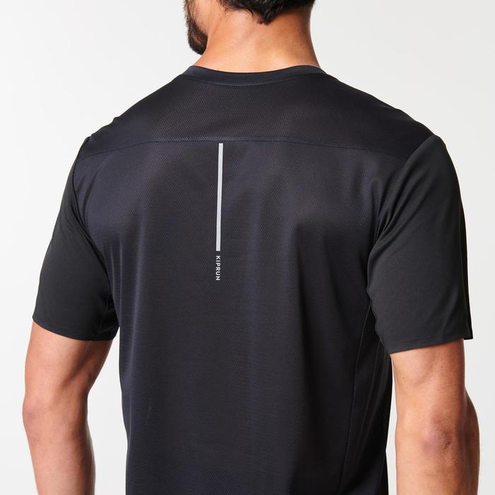 男款透氣跑步T恤KIPRUN LIGHT - 黑色