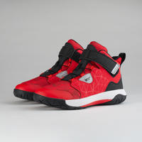 Boys'/Girls' Intermediate Basketball Shoes - Red/Black Spider Lace