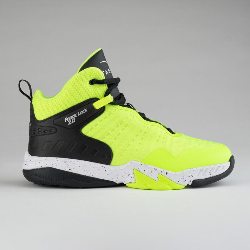 Boys'/Girls' Intermediate Basketball Shoes SS500H - Neon Yellow/Black