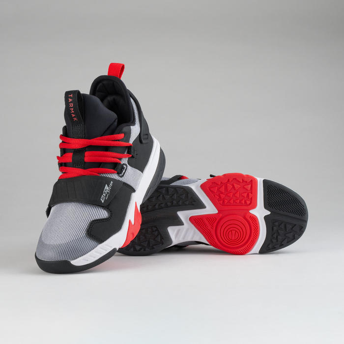 Boys'/Girls' Intermediate Basketball Shoes SS500M - White/Black/Red