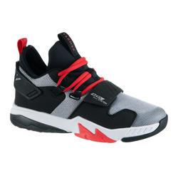 男女兒童款中階籃球鞋SS500M-白黑色紅配色