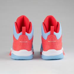 Boys'/Girls' Intermediate Basketball Shoes SS500H - Blue/Pink