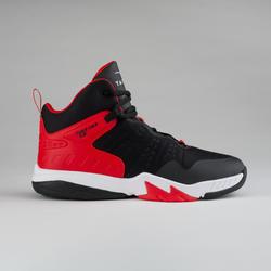 Basketbalschoenen voor gevorderde jongens/meisjes zwart/rood SS500H