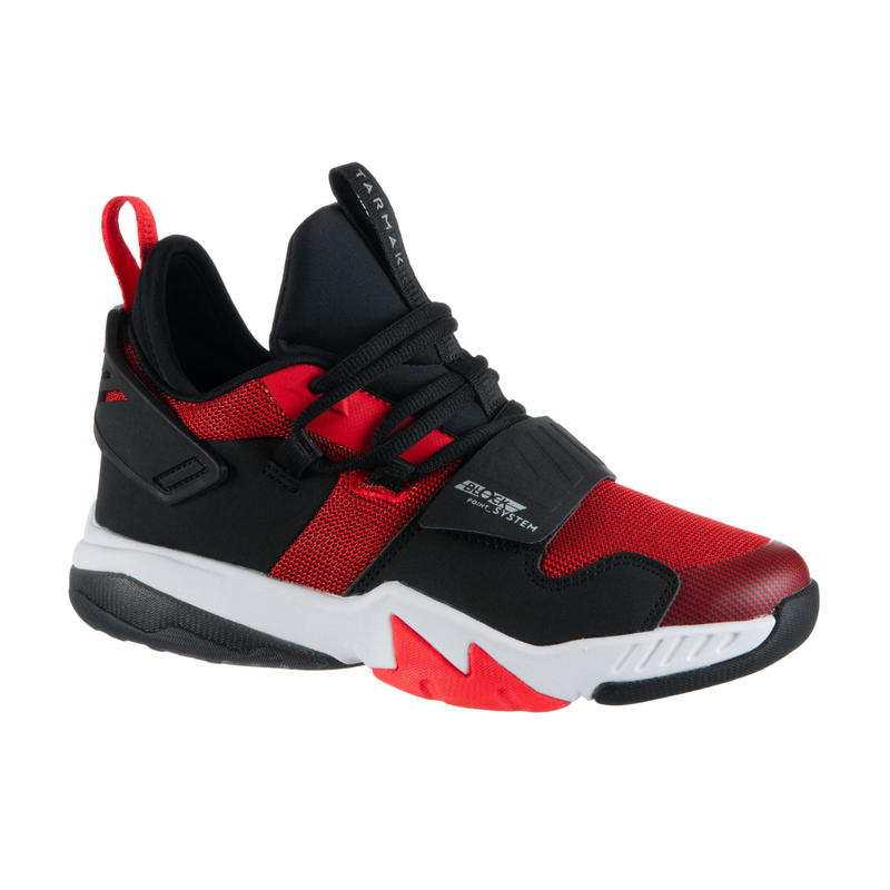 Basketbalschoenen voor gevorderde jongens/meisjes rood SS500M