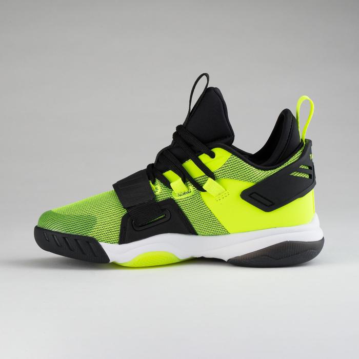 Basketbalschoenen voor gevorderde jongens/meisjes zwart/fluogeel SS500M