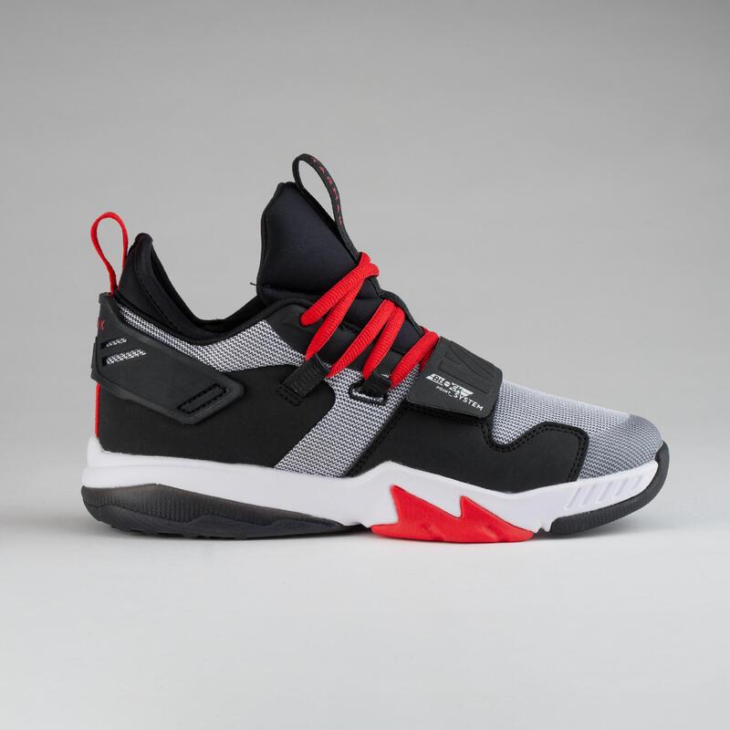 Dětské basketbalové boty SS500M bílo-černo-červené