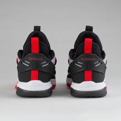 Basketbalschoenen voor jongens/meisjes wit/zwart/rood SS500M