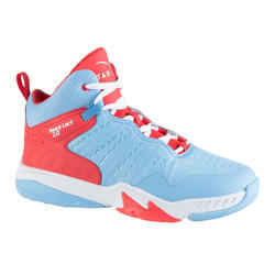 Boys'/Girls' Intermediate Basketball Shoes SS500H - Blue/Pink