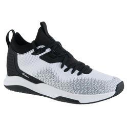 Basketbalschoenen voor gevorderde dames Fast 500 laag model wit/zwart
