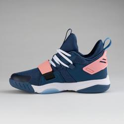 Boys'/Girls' Intermediate Basketball Shoes SS500M - Navy/Pink