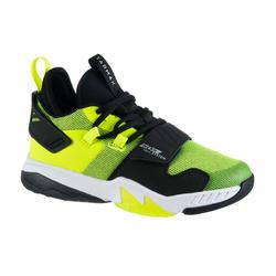 兒童款中階籃球鞋SS500M-黑色/螢光黃配色