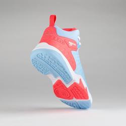 Basketbalschoenen voor gevorderde jongens/meisjes blauw/roze SS500H