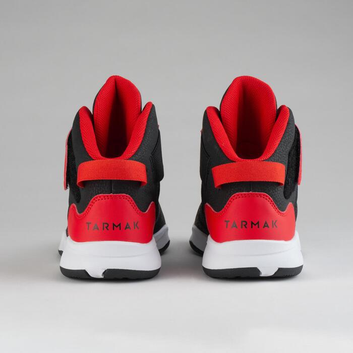 Kids' Beginner Basketball Shoes Easy - Black/Red Grenade