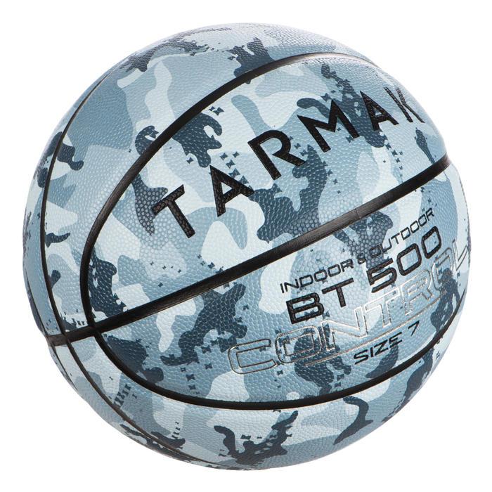 Ballon de basket BT500 T7 Camo Ice Bleu garçon et homme à partir de 13 ans.