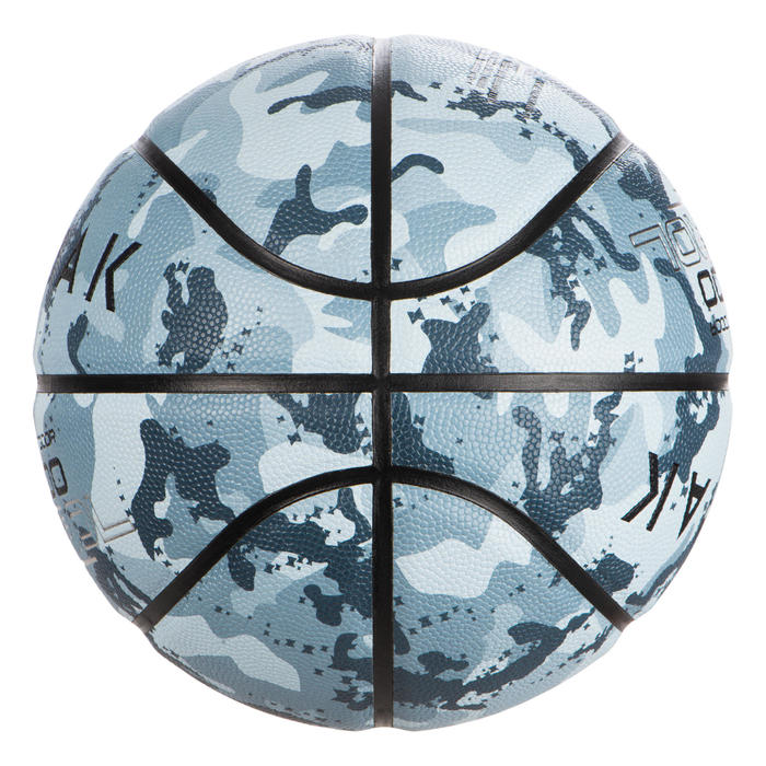 Basketbal BT500 maat 7 Camo Ice Blue