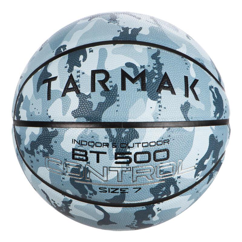 Basketbal voor jongens vanaf 13 jaar en heren BT500 M7 Camo Ice Blue
