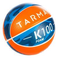 Minibalón de básquetbol K100 Espuma júnior talla 1. Hasta 4 años.
