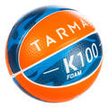 ZAČÁTKY S BASKETBALEM Basketbal - MÍČ K100 FOAM ORANŽOVO-MODRÝ TARMAK - Basketbalové míče
