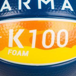 K100 Mousse. Mini ballon de basketball enfant en mousse taille 1 jusqu'a 4 ans.