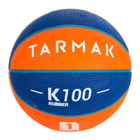 Minibalón básquetbol junior Mini B talla 1. Hasta 4 años. Azul Naranja