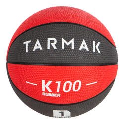 Mini B Kids' Size 1 Basketball. Up to age 4.Grey Red